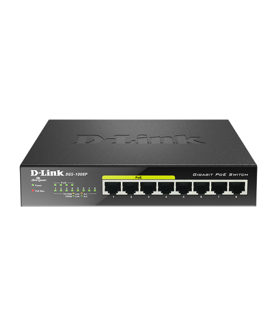 D-Link 8 Ports Switch - DGS-1008P