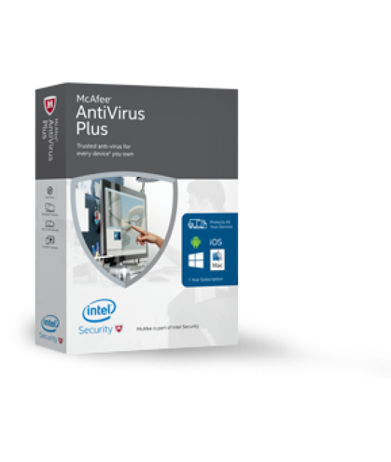 McAfee® AntiVirus Plus single user
